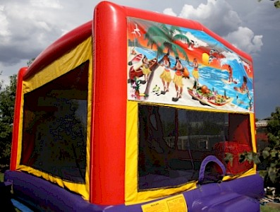 Tropical Paradise 3 in 1 Combo Jumping Castle