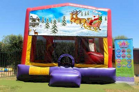 Christmas Santa Sleigh 3 in 1 Combo Jumping Castle