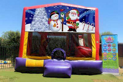 Christmas Santa and Snowman 3 in 1 Combo Jumping Castle