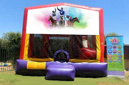 Spring Racing 3 in 1 Combo Jumping Castle