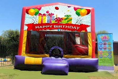 Happy Birthday Presents 3 in 1 Combo Jumping Castle